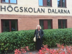 Kate visitng and presenting at Hogskolen Dalarna, Faun, Sweden